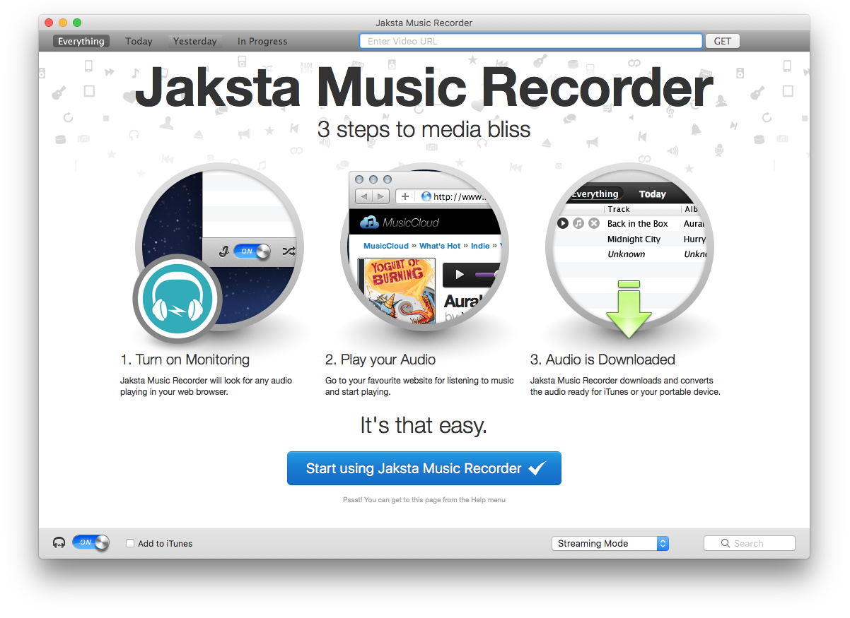 Jaksta Music Recorder for Mac